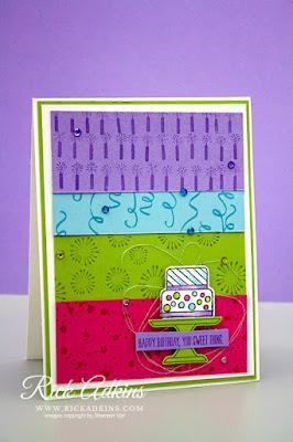 Piece of Cake Stamp Set, Birthday Background Stamp Set, Cake Punch, Paper Piecing, Rick Adkins, Stampin' Up!