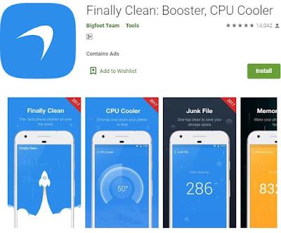 aplikasi pendingin hp android otomatis tanpa root - finally clean