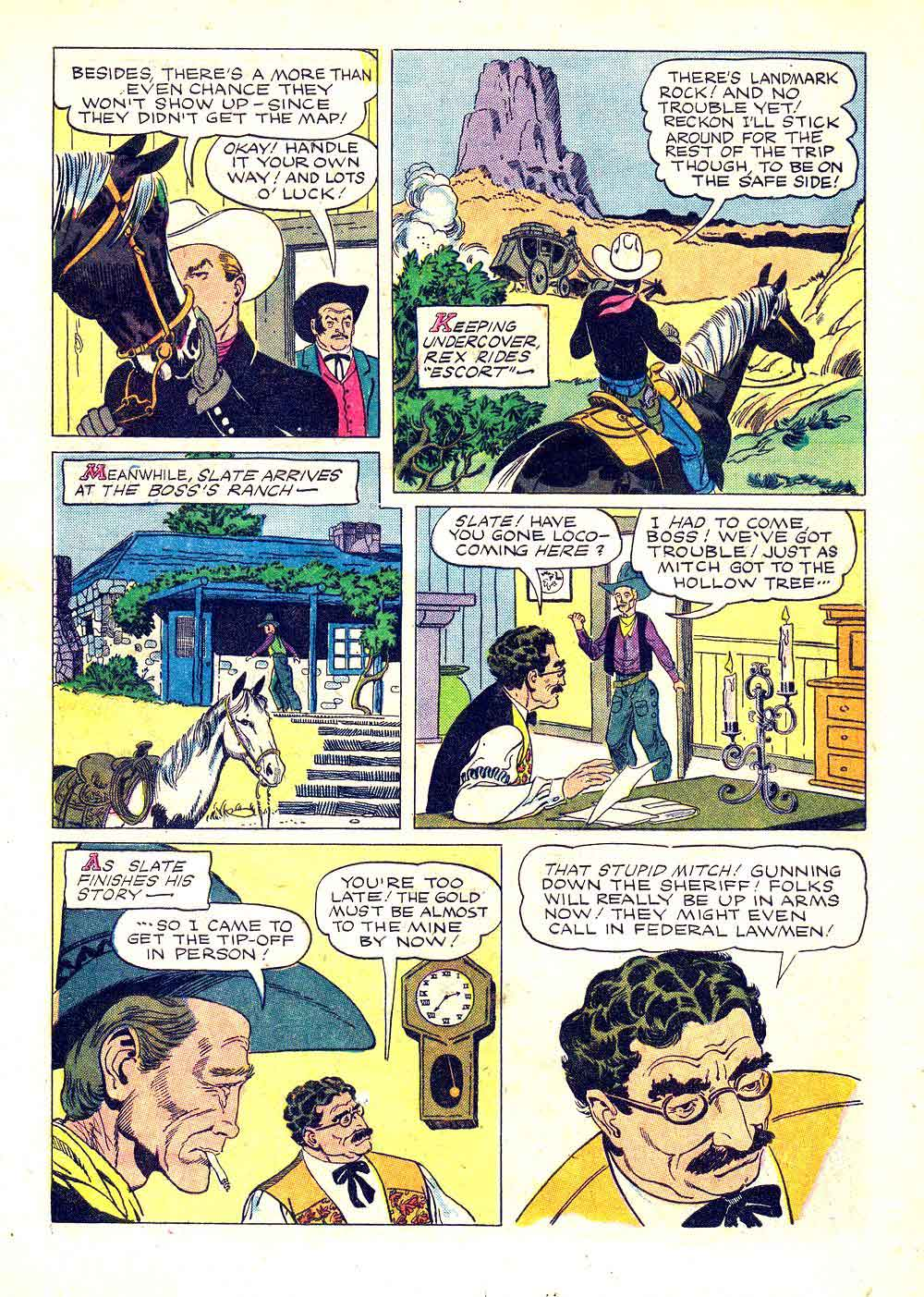 Rex Allen v1 #20 dell western comic book page art by Russ Manning