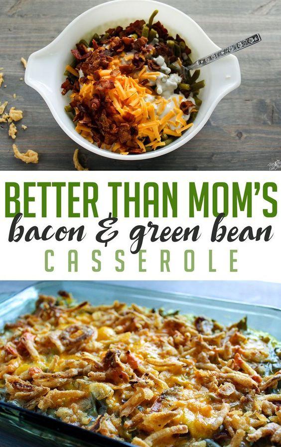 Bacon Green Bean Casserole #Bacon #Green #Bean #Casserole #Dinnerrecipe #deleciousrecipe