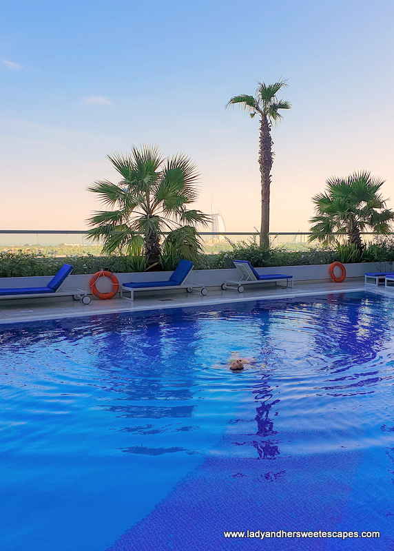 Novotel Al Barsha swimming pool view