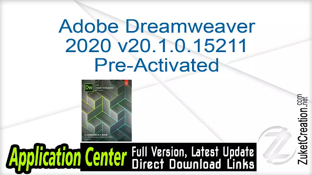 Adobe Dreamweaver 2020 v20.1.0.15211 Pre-Activated