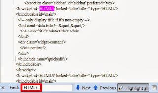 kode atau perintah dalam template blogger