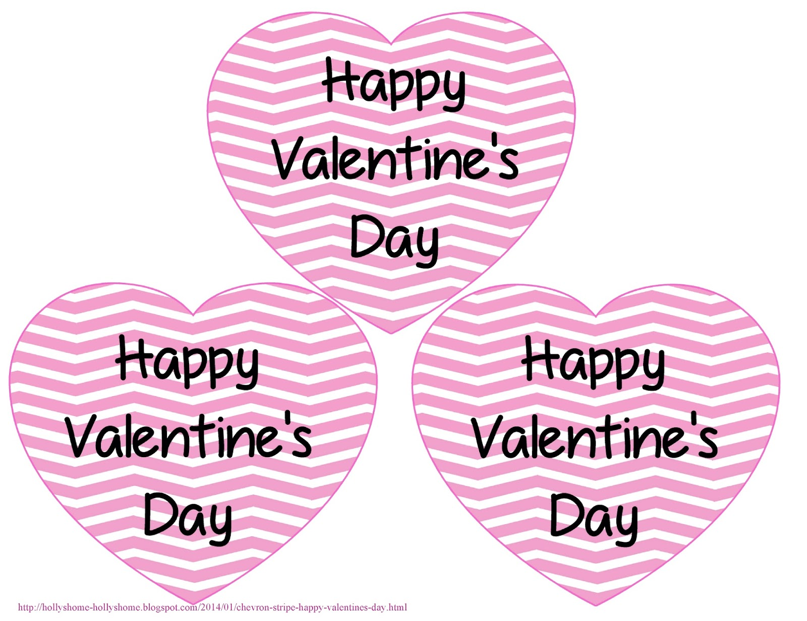 Hollyshome Family Life Chevron Stripe Happy Valentine S Day Printables