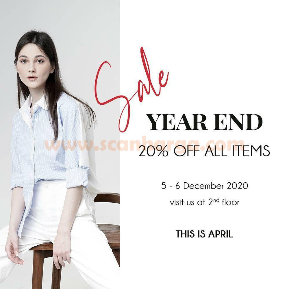 Promo This Is April Year End Sale Discount 20% Off All Items