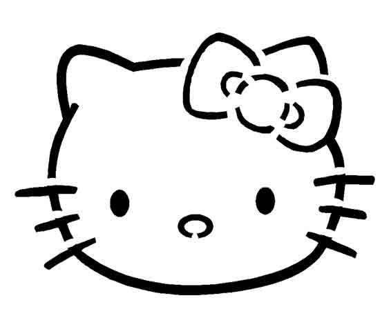 Hello Kitty Face Template Love this hello kitty pumpkin