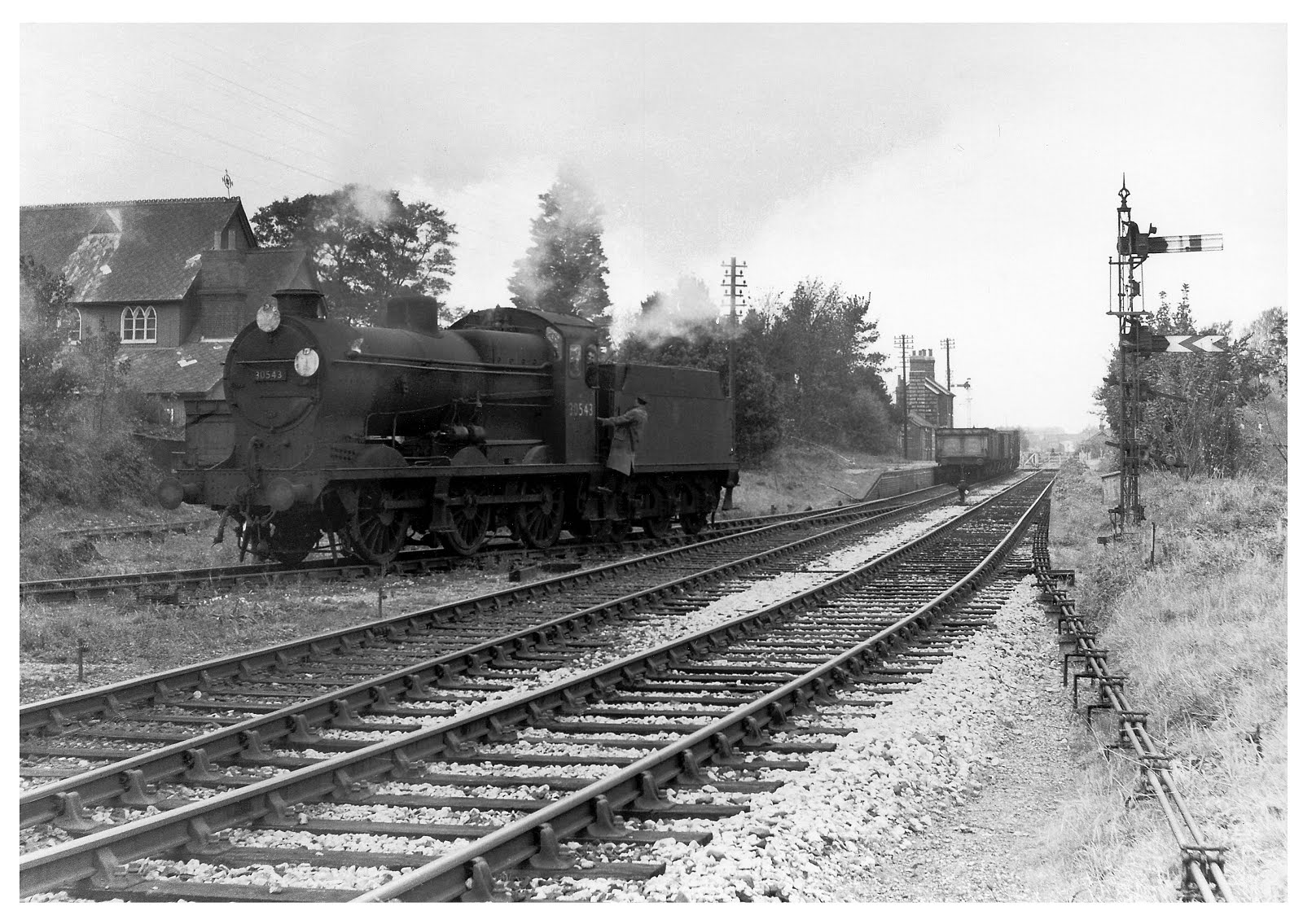 Working the end of the Lee line 1958