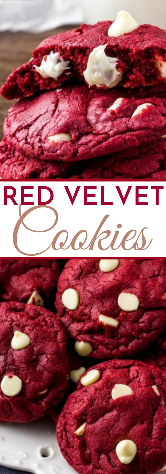 Red Velvet Cake Mix Cookies #desserts #cookies #baking #valentine #cake