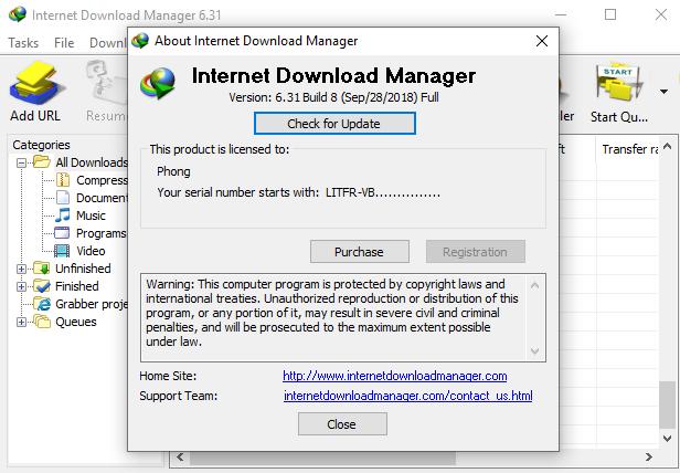 [Soft] IDM 6.31 Build 8  - Full Crack mới nhất !