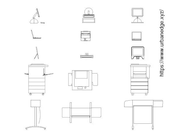 Office equipment cad blocks download - 15+ Office cad models