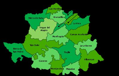 Mapa De Extremadura Comarcas.Cepa Extremena 2012