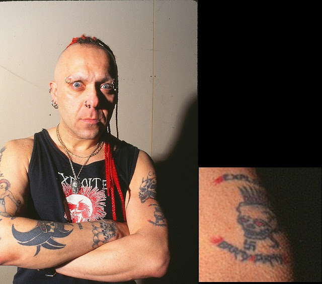 Wattie Buchan nazi tattoo (The Exploited) #PMRC PunkMetalRap.com