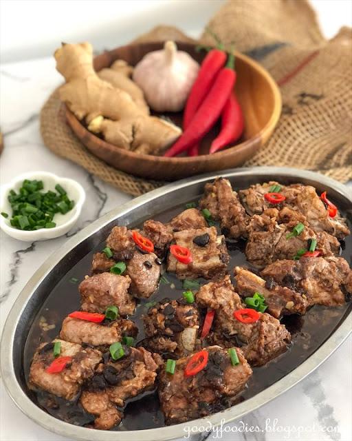Steamed pork ribs with black bean sauce recipe