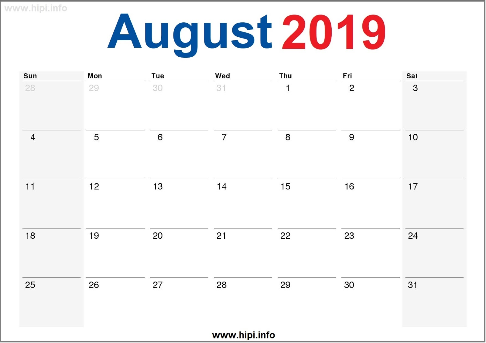 photo relating to Printable Monthly Calendar August known as Twitter Headers / Fb Handles / Wallpapers / Calendars