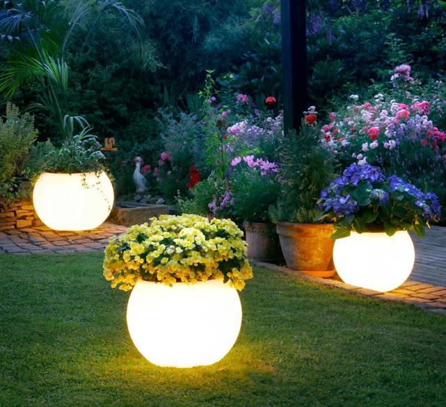 Magical Glowing Flower Garden Planters