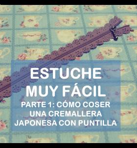Tutorial cremallera japonesa con puntilla La vie en DIY