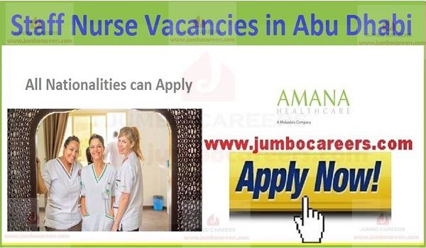 Details and description of staff nurse jobs,