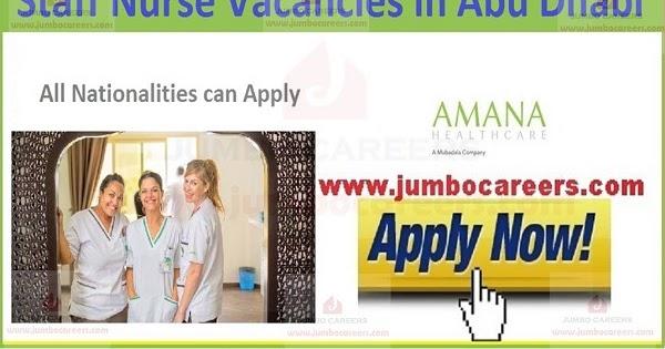 Staff Nurse Jobs In Amana Health Care Abu Dhabi Uae