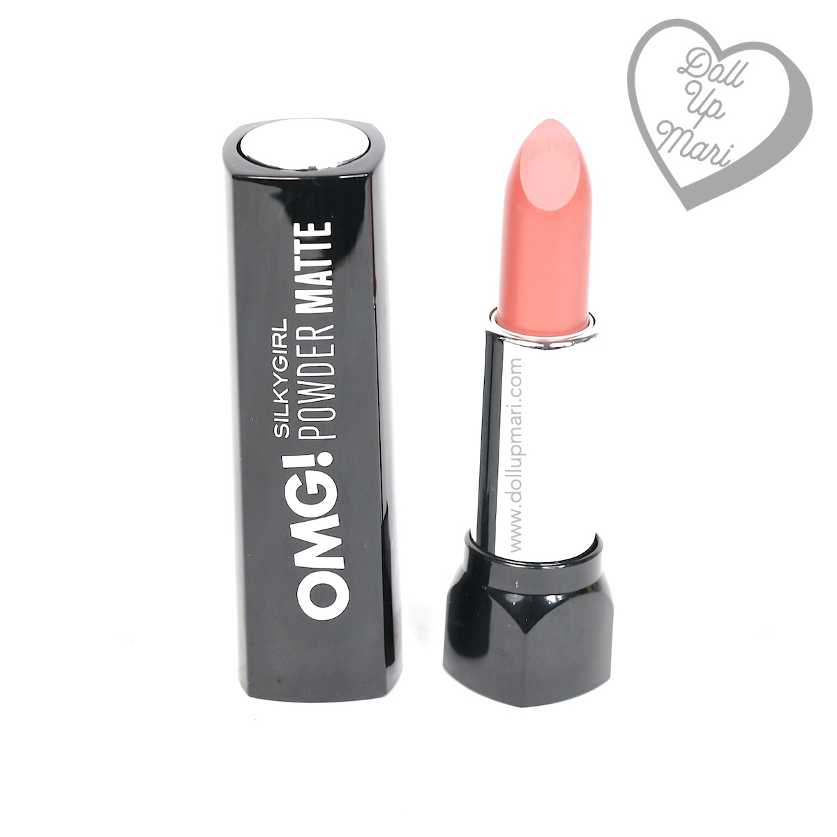 pack shot of Silkygirl OMG! Powder Matte Lipcolor Lipstick (01-Blossom)