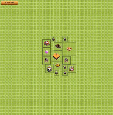 Base Clash of Clans Town Hall 1