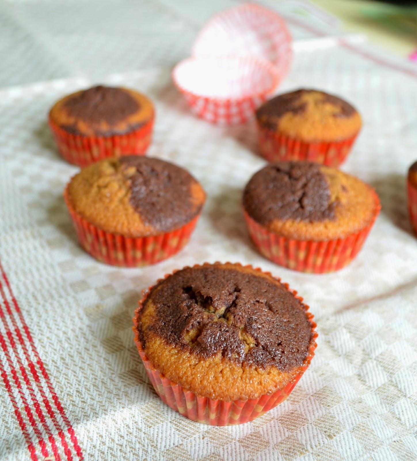 Muffins chocolat et vergeoise brune