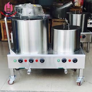 Nồi Nấu Phở Điện Đôi HH 30-80 Lit Bánh xe, tay đẩy