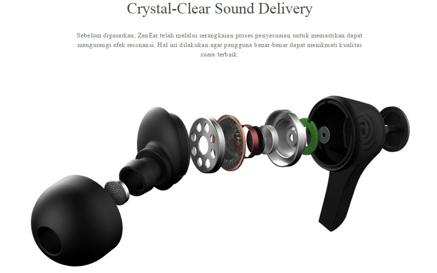 ASUS ZenEar (AHSU001): Suara Jernih Earphone Terkini dengan Teknologi Patented Damping System
