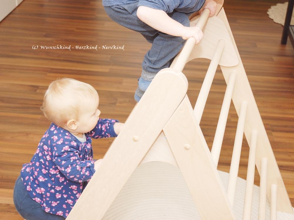 Kletterdreieck Klappbar Selber Bauen : Wunschkind herzkind nervkind das kletterdreieck ein
