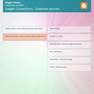 Emplacement optimisé Widget ContactForm - Layouts V3 (Contempo/Essential)