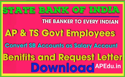 How to Change SBI Savings Account as Salary Account SGSP of State Govt Employees and Teachers-Download Request Letter