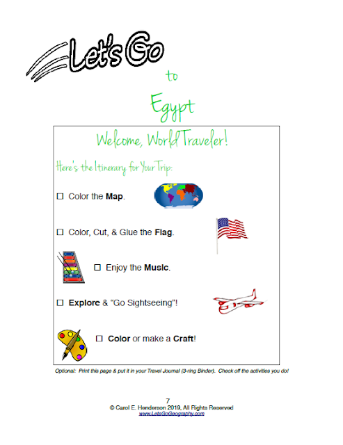 Let's Go Geography Egypt Checklist