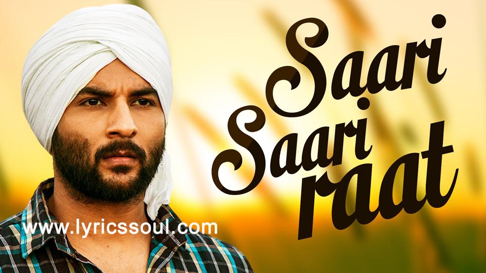 The Saari Saari Raat lyrics from 'Vaapsi', The song has been sung by Akhil, , . featuring Harish Verma, Ashish Duggal, Sameksha, . The music has been composed by Gurmeet Singh, , . The lyrics of Saari Saari Raat has been penned by Manish Verma,