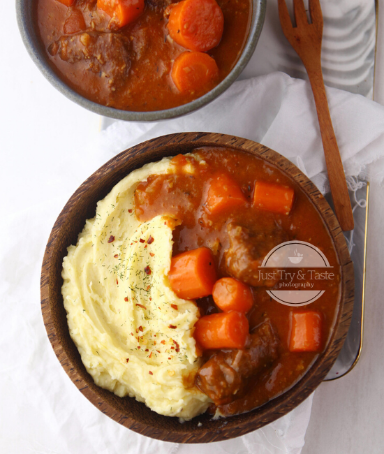 Resep Beef Stew dengan Mashed Potato JTT