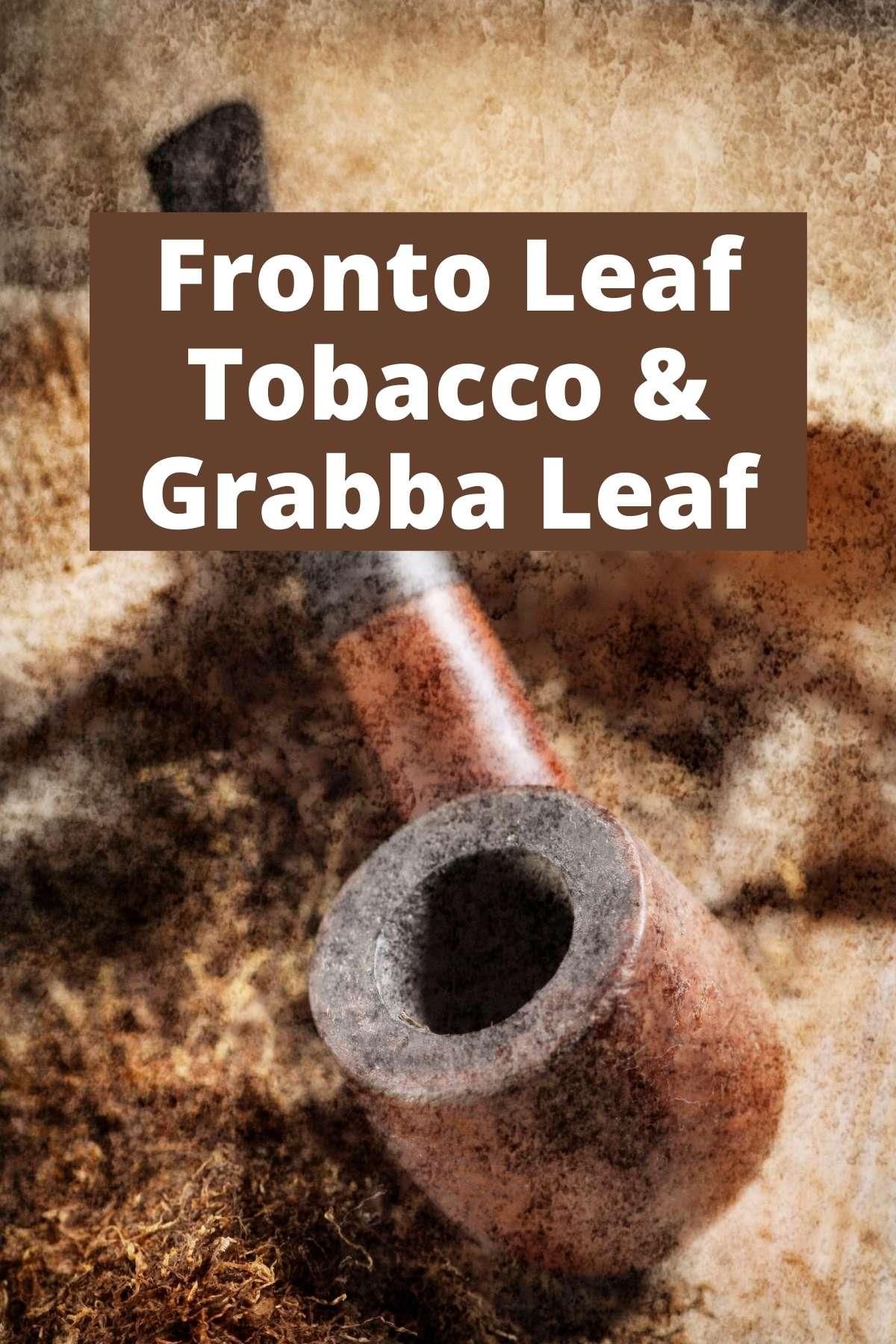 Fronto Leaf Tobacco and Grabba Leaf