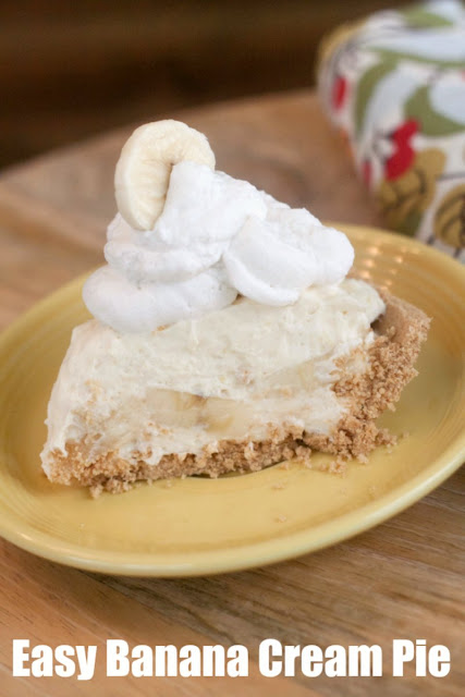 A delicious dessert is just minutes away. Recipes do not get much easier than this banana cream pie and the results are fabulous!