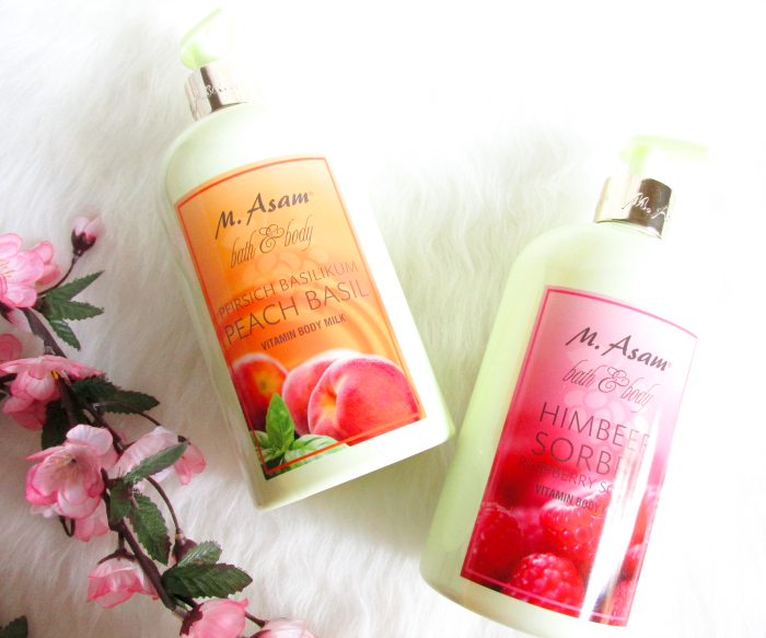 Review: M.Asam Vitamin Body Milks - Peach Basil & Raspberry Sorbet / Inhaltsstoffe