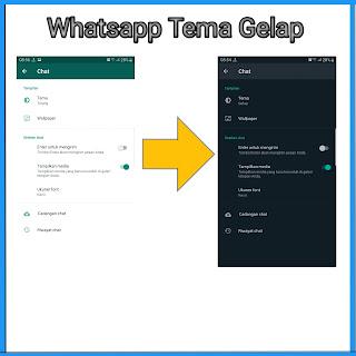 Whatsapp Tema Gelap