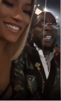 "#BETAwards ""My Baby"" -  Burna Boy And His Girlfriend, Stefflon Don Steps Out In Style At The BET Awards"