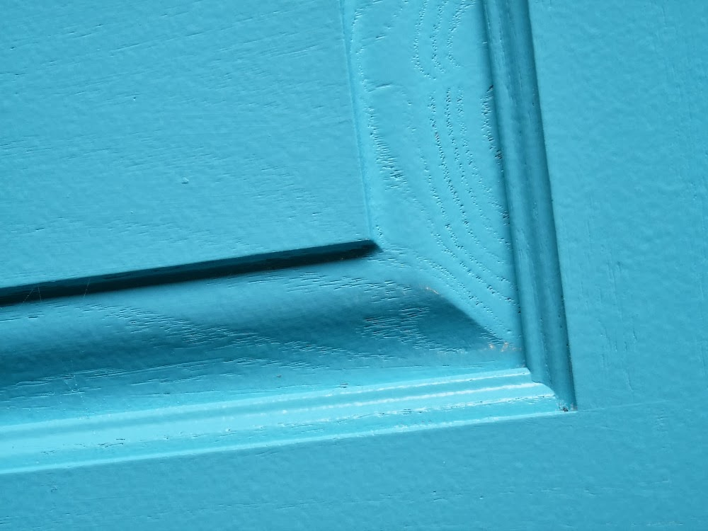 Paint applied with a paint sprayer
