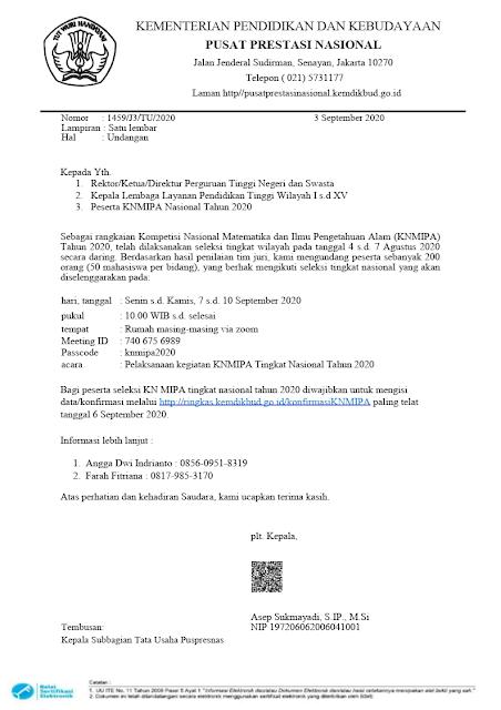 petunjuk pelaksanaan kn mipa tingkat nasional tahun 2020 pdf tomatalikuang.com