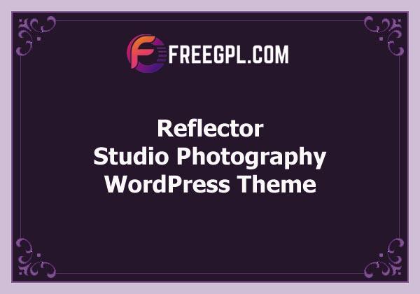 Reflector - Studio Photography WordPress Theme Free Download