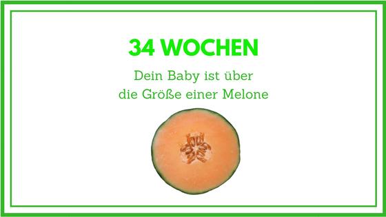 34 Wochen schwanger