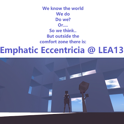 "LEA13 ""Emphatic Eccentricia"" by Veleda Lorakeet Opens 4/1/18"