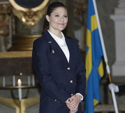 At Stockholm Women's Voluntary Air Defence Organisation's Christmas vespers held at the Royal Palace Church