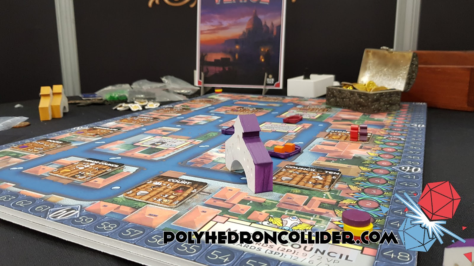 Kickstarter Highlight Venice Board Game in play 6 at UK Games Expo