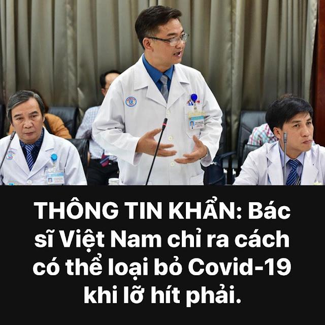 Bác sĩ Việt Nam chỉ ra cách có thể loại bỏ Covid-19 khi lỡ hít phải