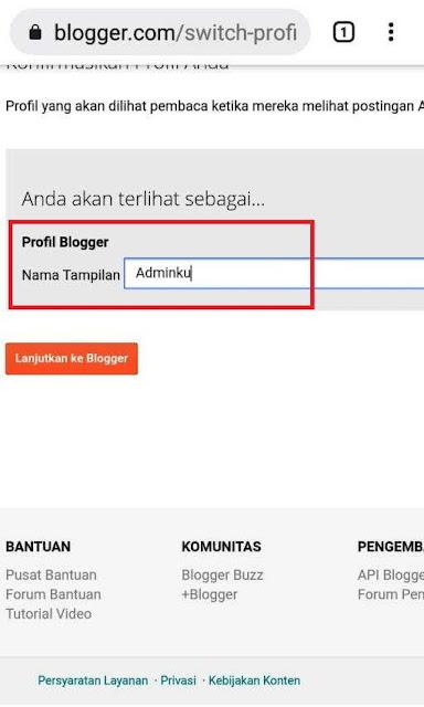 membuat profil blogger