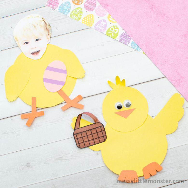 Easter chick craft - Easter activities for toddlers and preschoolers