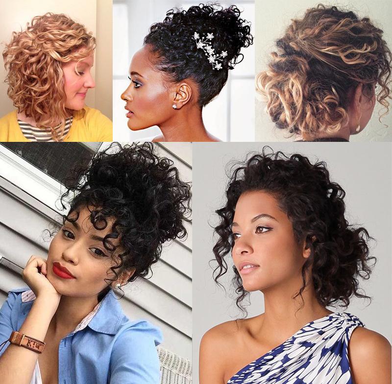 Penteados para cabelo curto cacheado com preso lateral