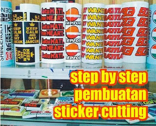 step by step pembuatan sticker cutting